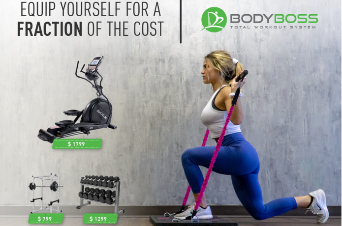 BodyBoss 2.0 Full Portable Home Gym Workout Package Resistance Bands OPEN BOX
