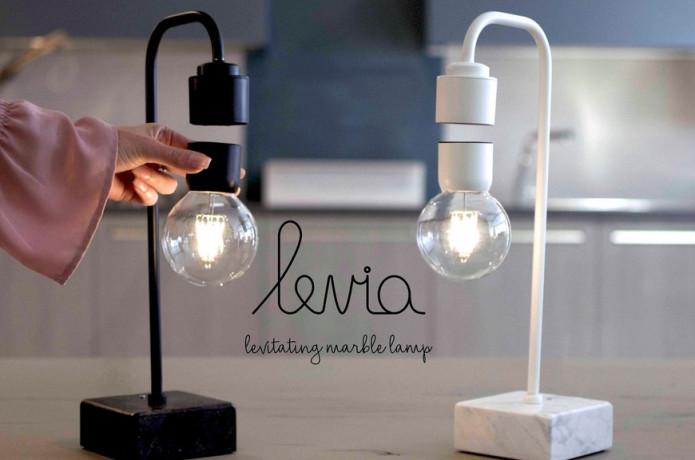 Levia - Unique levitating marble lamp