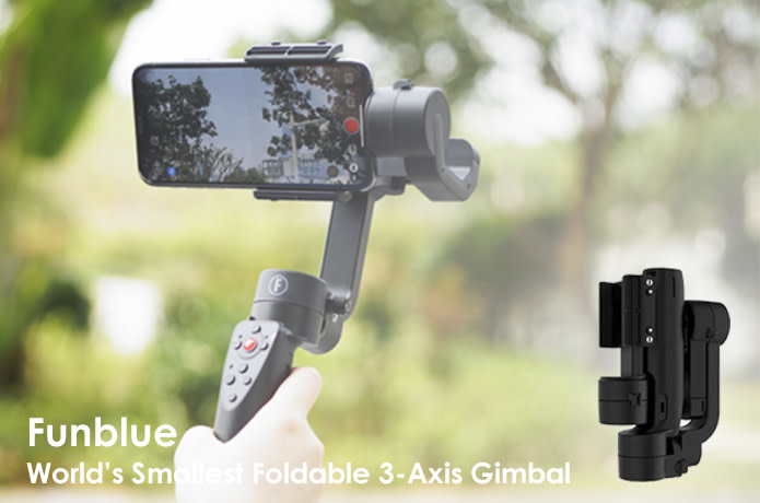 Funblue: Smallest Foldable 3-Axis Gimbal