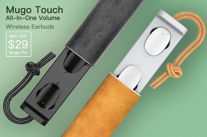 Mugo Touch-Native Volume Control Wireless Earbuds | Indiegogo
