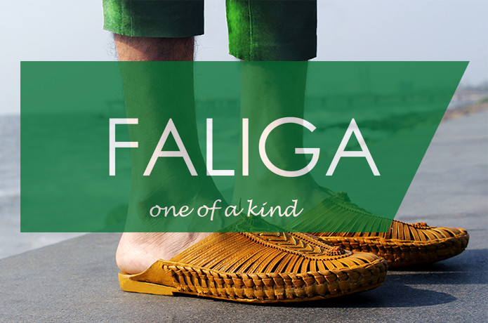 FALIGA:Fashionable Buffalo Leather Slip-ons Loafer