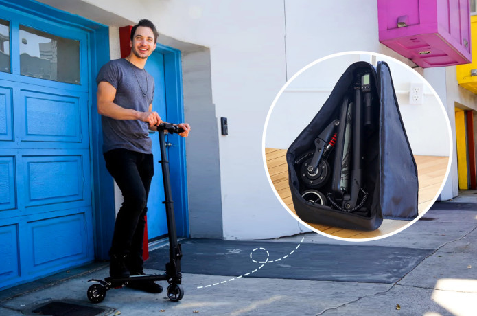 MiniFalcon: The E-Scooter That Fits In A Backpack