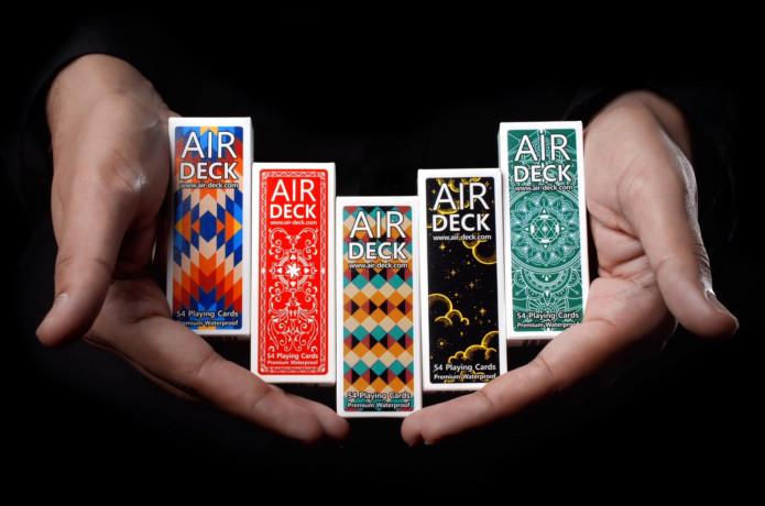 Air Deck Travel Playing Cards Aqua Mandala