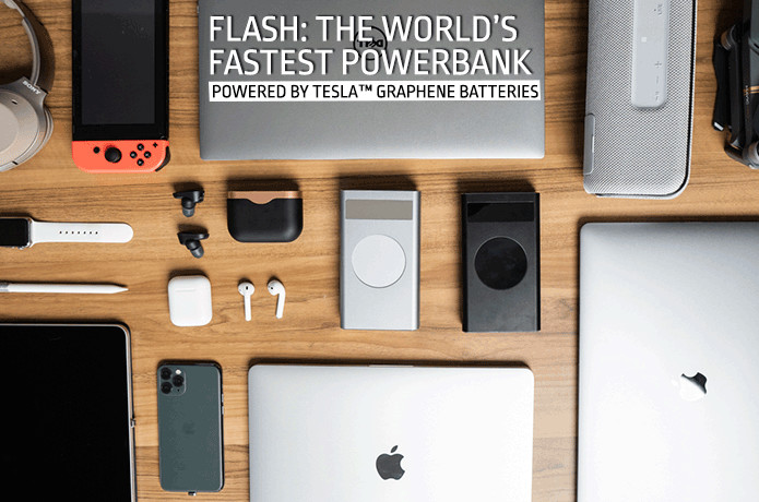 Flash: World's Most Powerful 210W USB-C Powerbank