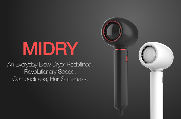 MIDRY:A mini blow dryer with revolutionary speed