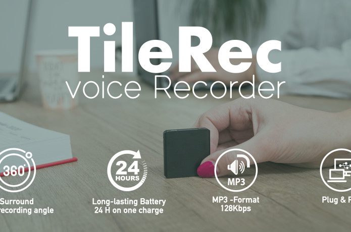 TileRec - The Slimmest Voice-Activated Recorder