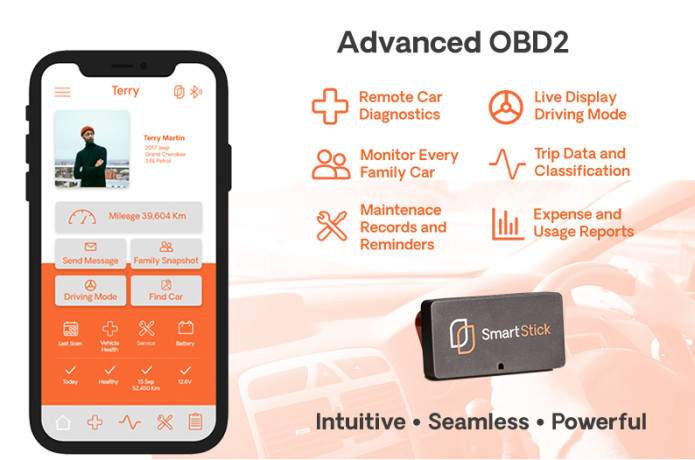 SmartStick OBD2 - Real-Time Vehicle Monitoring