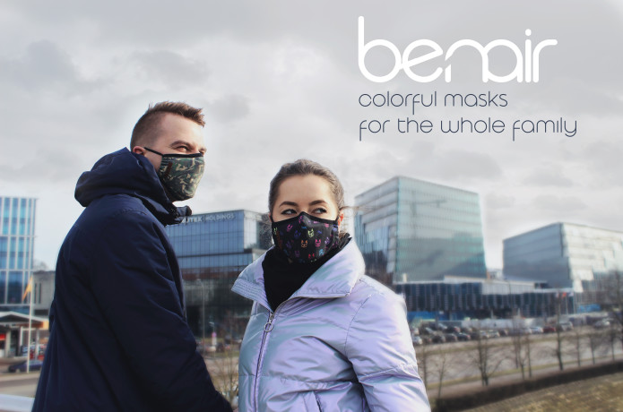 Benair : colorful masks for the whole family
