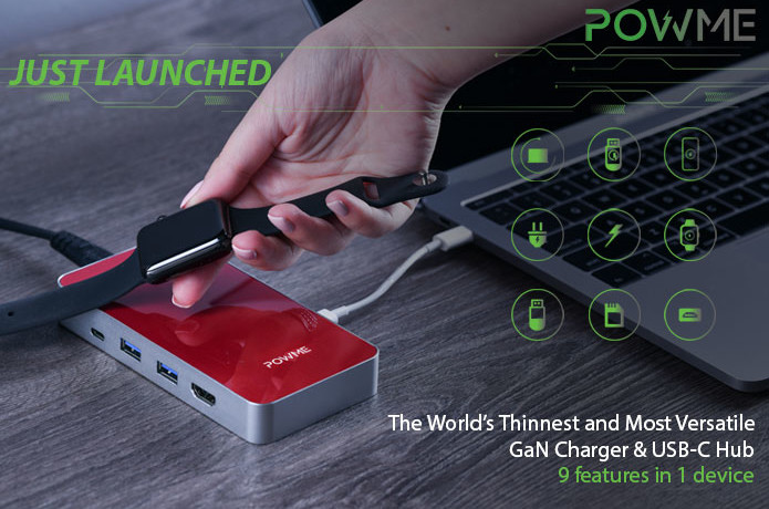 Powme -The Most Versatile Charger with Type-C Hub