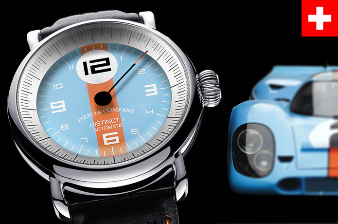 Ferro & Co. watch - Le Mans inspired racing watch