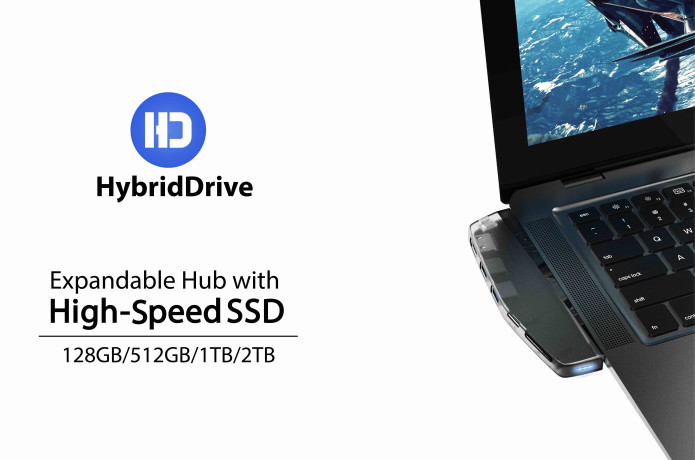 HybridDrive - Expandable Storage Hub with Fast SSD