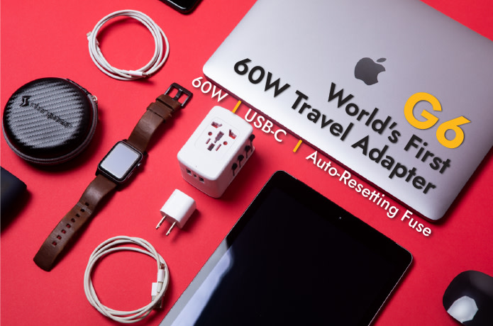 G6: World's First 60w Travel Adapter with GaN