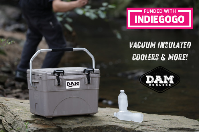 DAM Coolers - Ice Cold for over a Week!