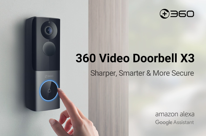 360 Video Doorbell X3: The radar sensor doorbell