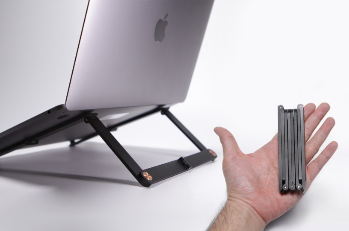 Mantiz: The World's Smallest Folding Laptop Stand