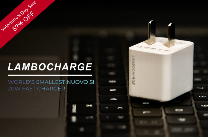 LAMBOCHARGE-Smallest NUOVO SI 20W Fast Charger