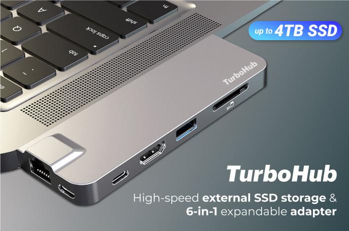 TurboHub: World's Fastest SSD & 6-in-1 USB-C Hub