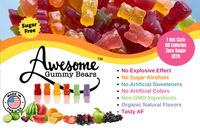 Awesome Gummy Bears: Guilt-free, Zero Sugar, Keto