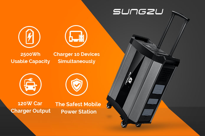 SUNGZU SKA2500-The safest portable power station
