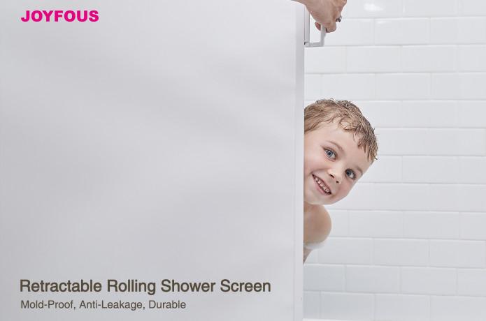 JoyFous Retractable Rolling Shower Screen