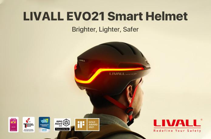 LIVALL EVO21 Smart Helmet: 360 Active Protection
