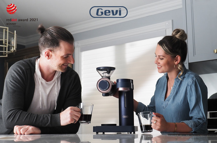 Gevi 2-in-1 Coffee Grinder & Pour-over Machine
