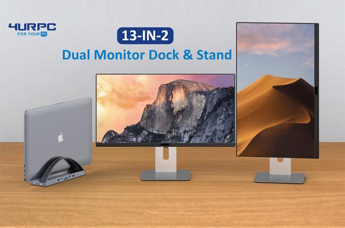 Dual Monitor Docking Station for MacBook & Windows
