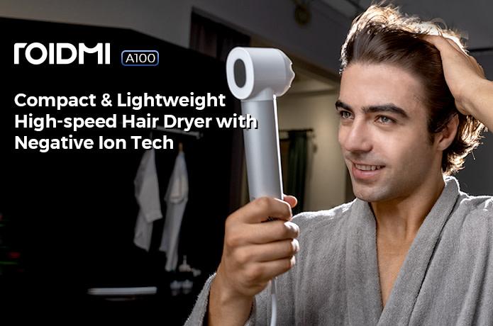 ROIDMI A100 Hair Dryer: Compact, Light & Powerful