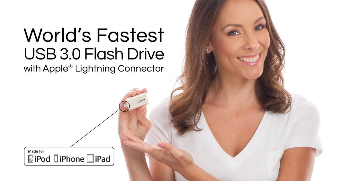 iShowFast 64 GB Rose Gold USB 3.0 Flash Drive for iPhone /& iPad