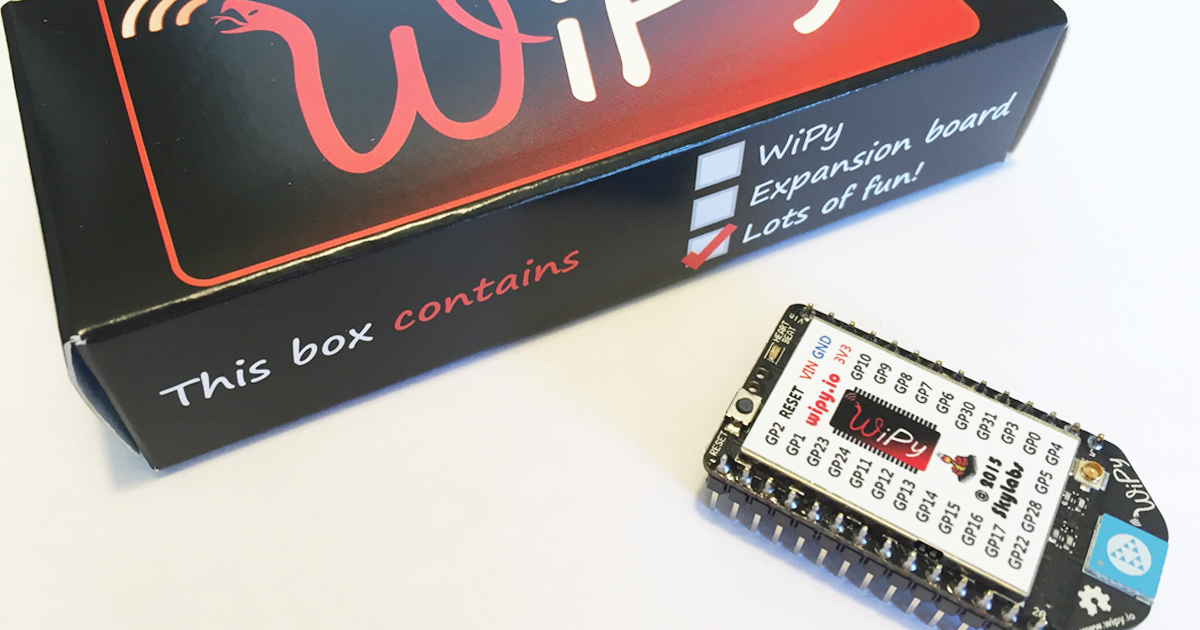 The WiPy: The Internet of Things of the future | Indiegogo