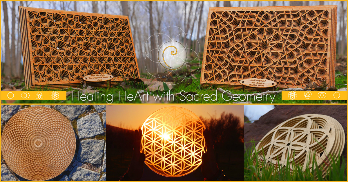 Healing heArt - Support for Heal yourself with Sacred Geometry.