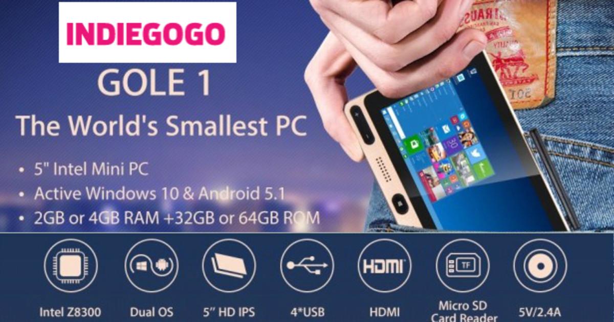 Gole1, Cheapest Windows10 Intel Touch Mini PC   Indiegogo