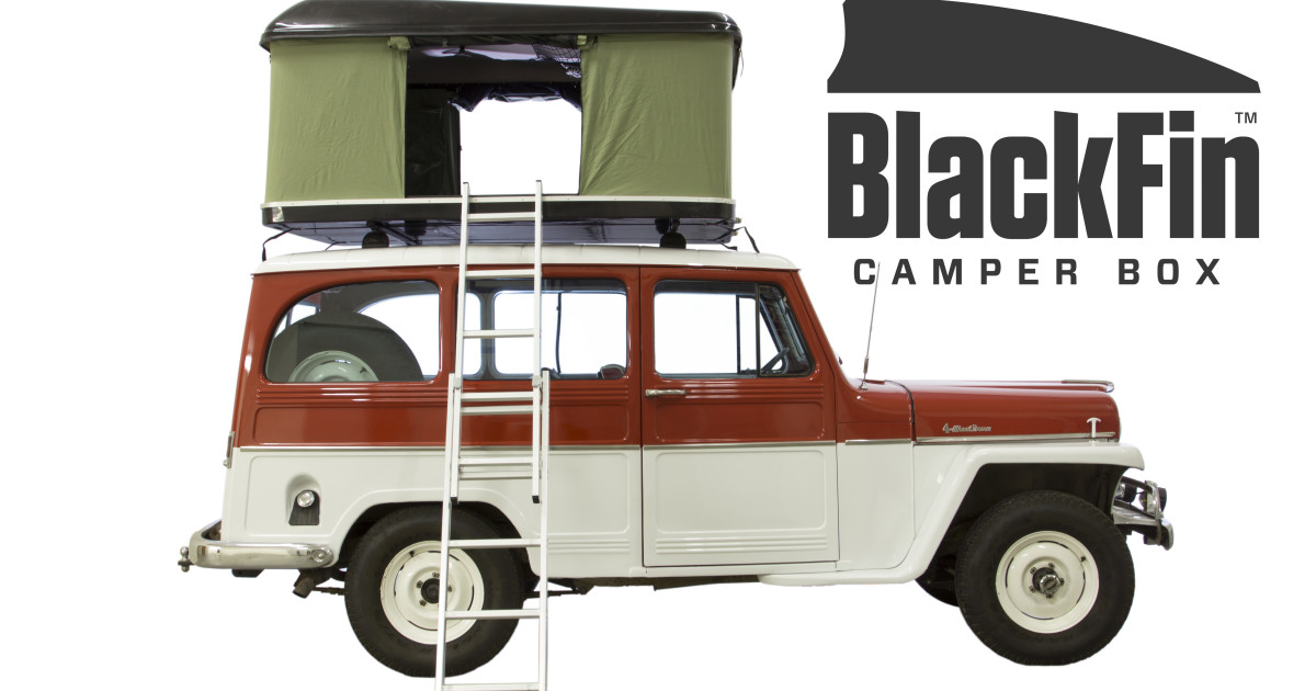 BlackFin Camper Box - Hard Shell Roof Top Tent | Indiegogo