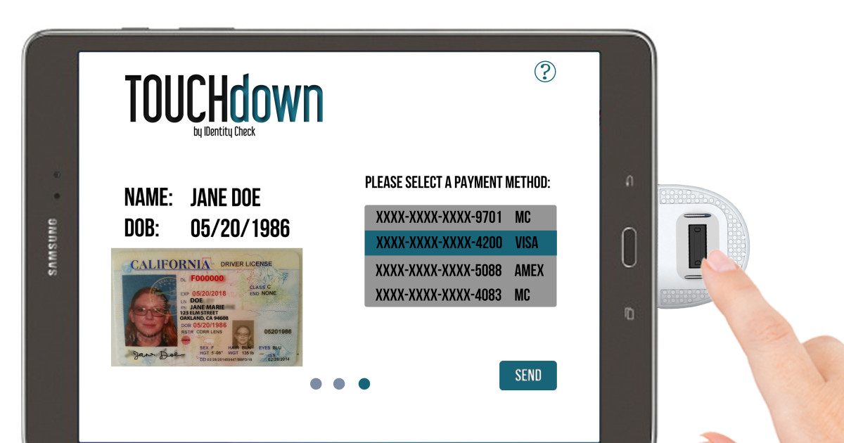 TOUCHdown - Let Your Finger Be Your Wallet | Indiegogo