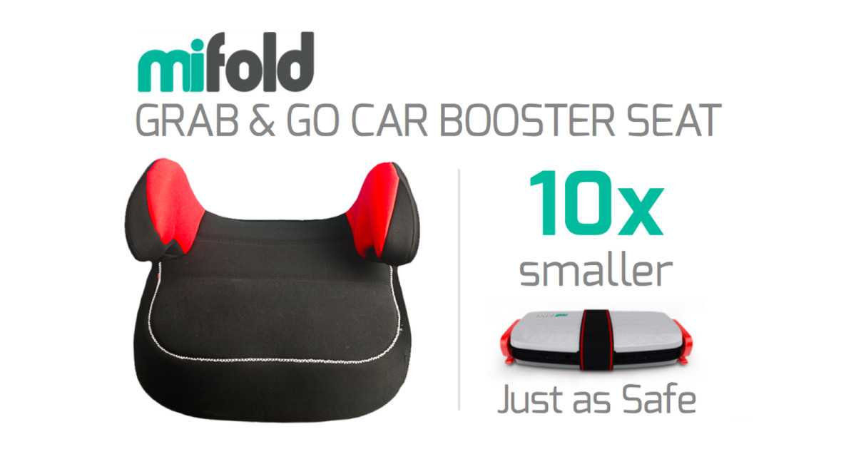 mifold - the Grab-and-Go Booster seat | Indiegogo
