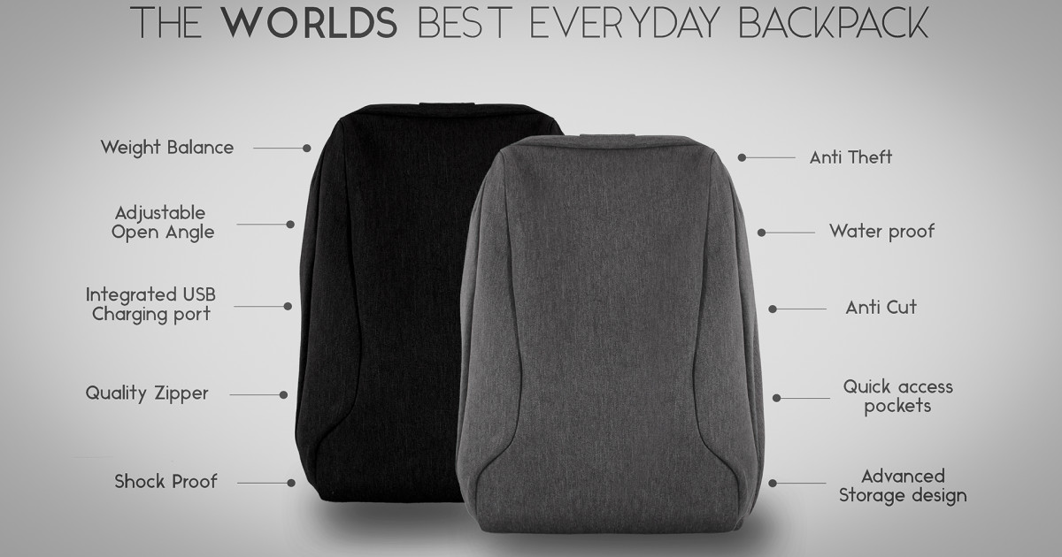 The Best Anti Theft Everyday Backpack | Indiegogo