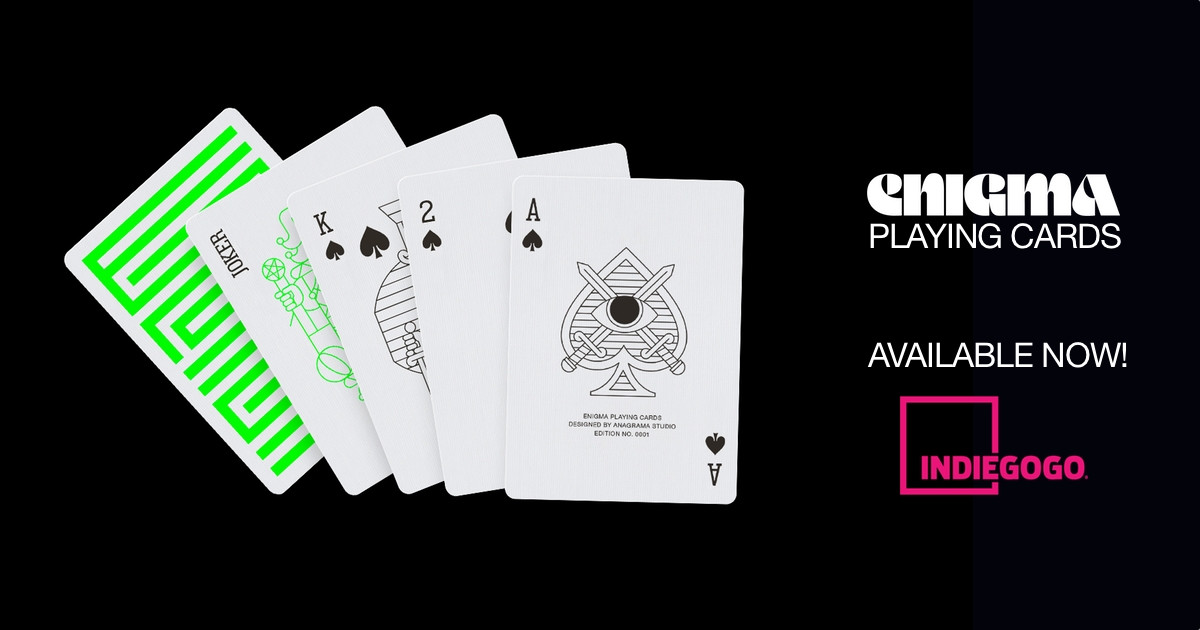 Enigma playing cards | Indiegogo