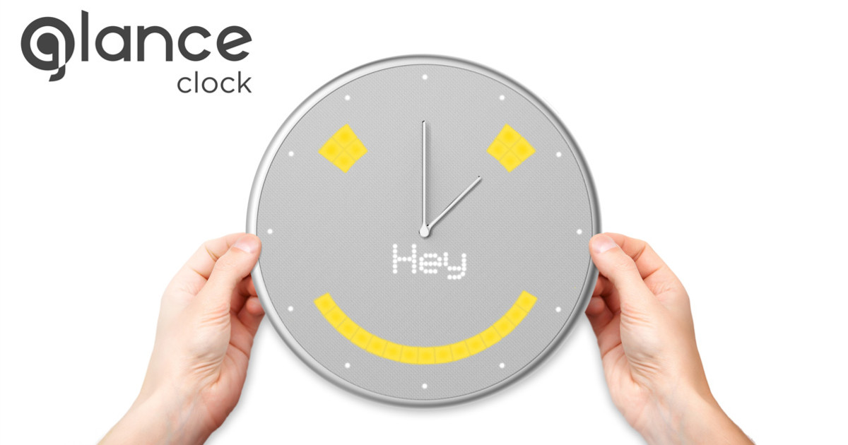 Glance See What You Need When You Need It Indiegogo - Clever magnetic wall clock charges phone wirelessly