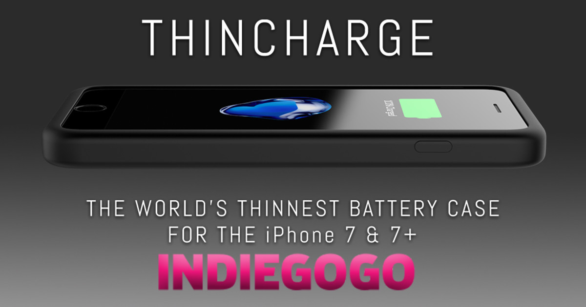 pretty nice 58bdc afae2 ThinCharge - World's Thinnest Battery Phone Case | Indiegogo