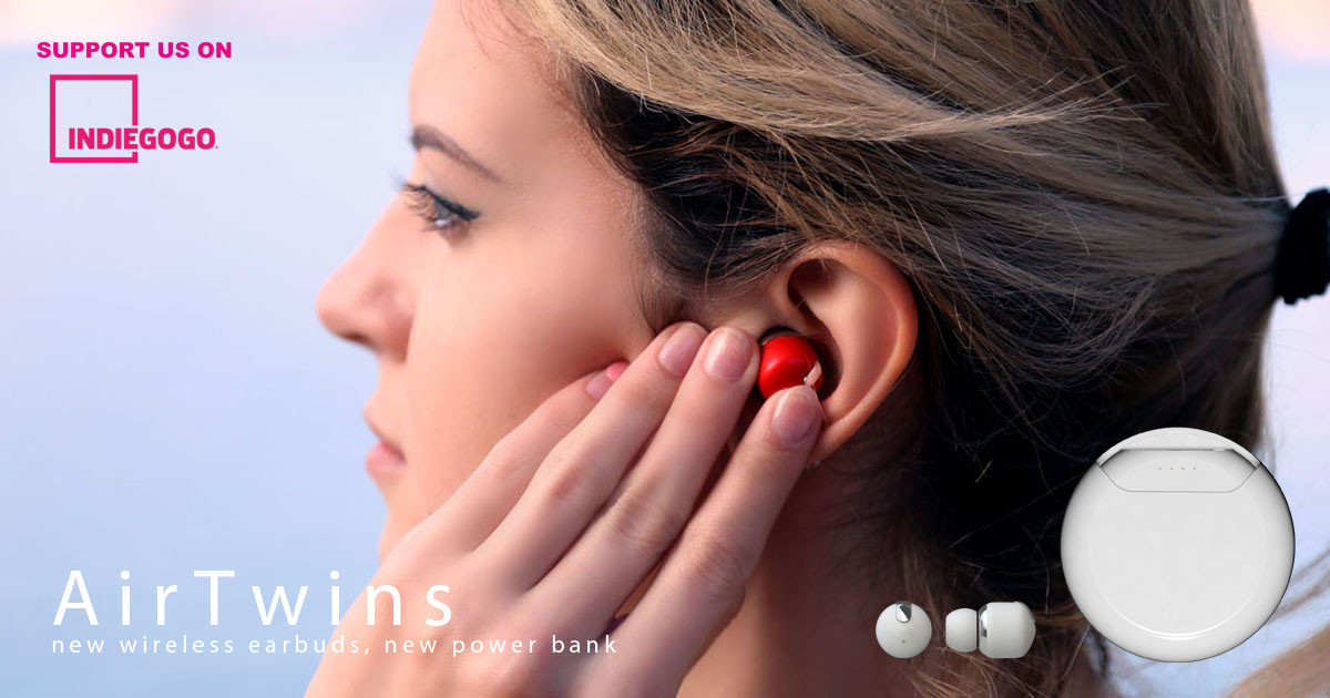 4d35ef66b41 Air Twins -TWS Earbuds with 2,800mAh Power Case | Indiegogo