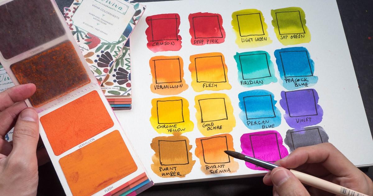 viviva colorsheets the most portable watercolors indiegogo - Colorsheets