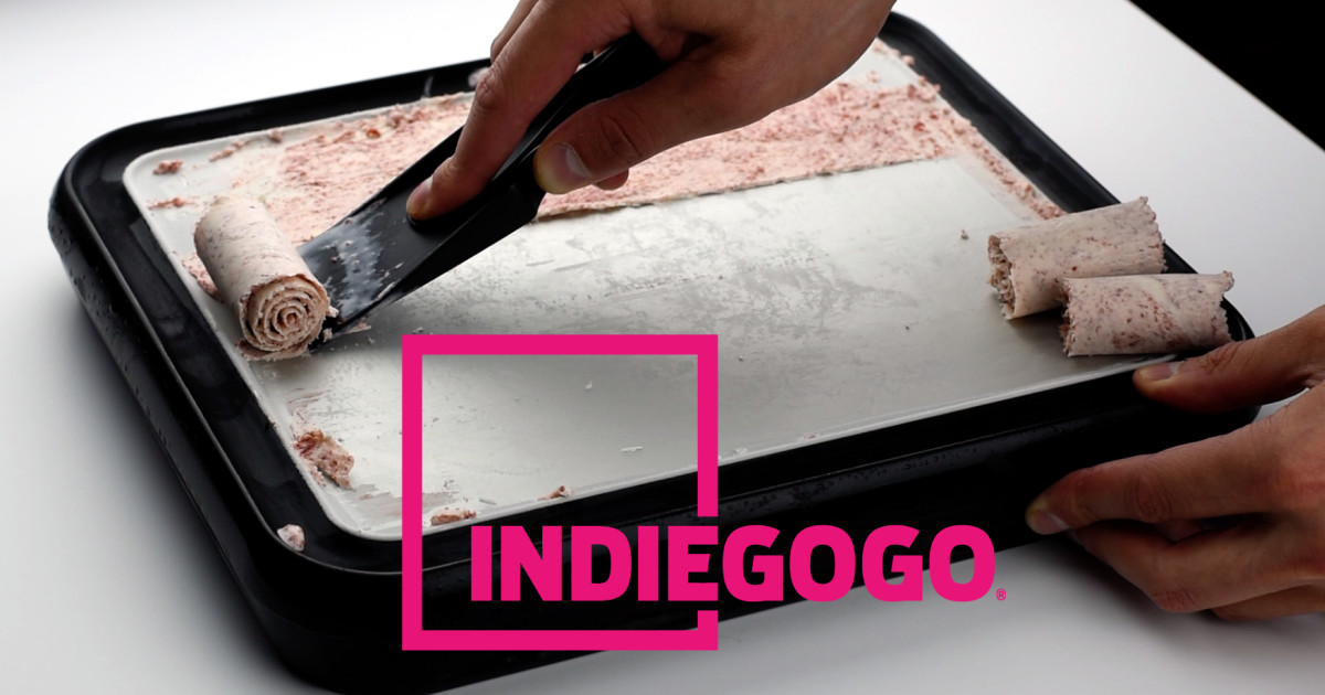 Ice plate the diy at home ice cream roll maker indiegogo ccuart Choice Image