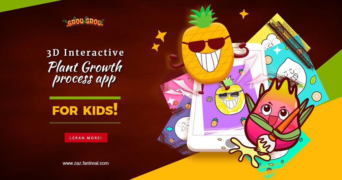Grow Grow Funny Ar Plants Growth App For Kids Indiegogo