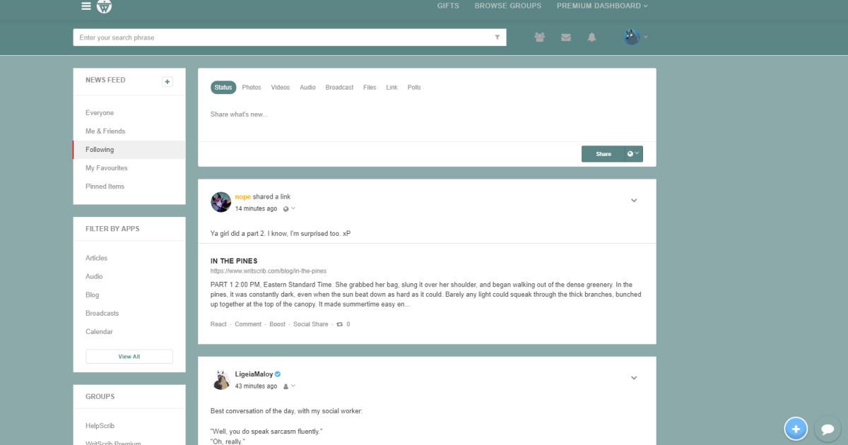 WritScrib: A Social Network For Creators | Indiegogo
