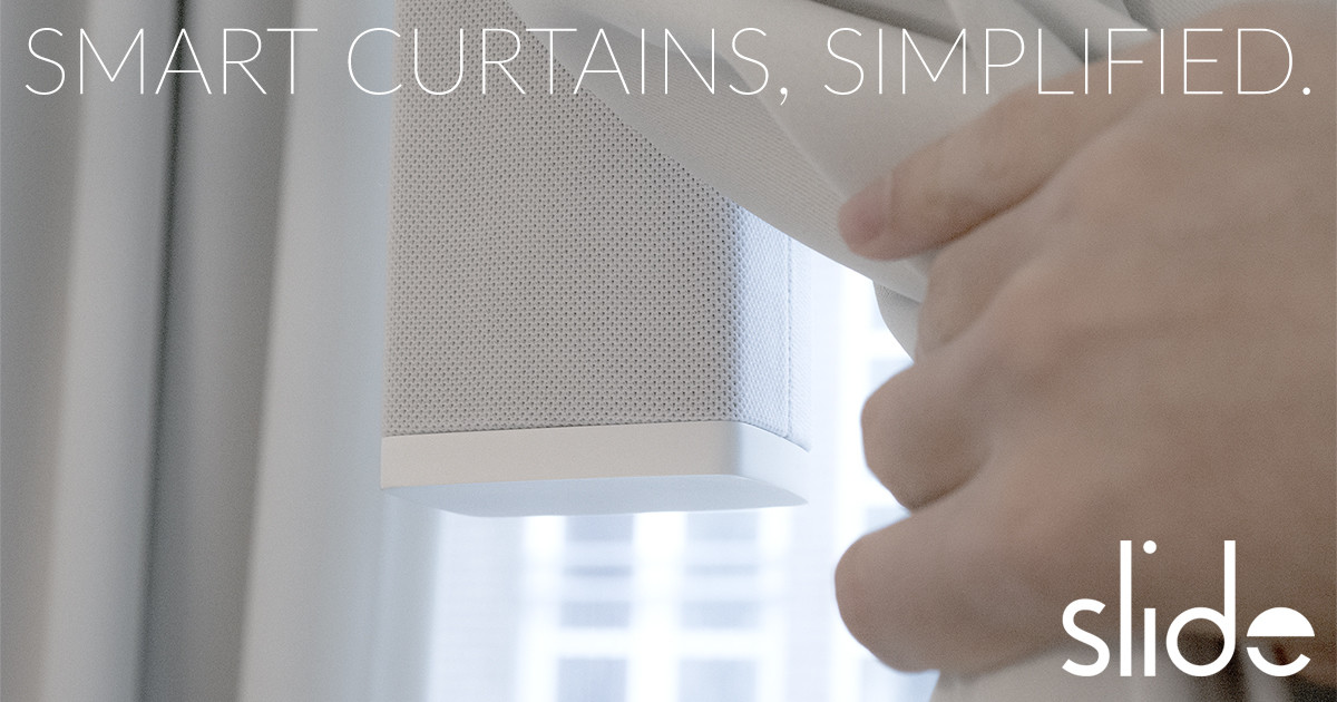 slide make your existing curtains smart indiegogo - Smart Curtains