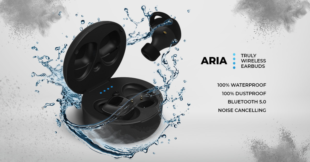 ARIA Waterproof Earbuds: Bluetooth 5 & 32h Battery | Indiegogo