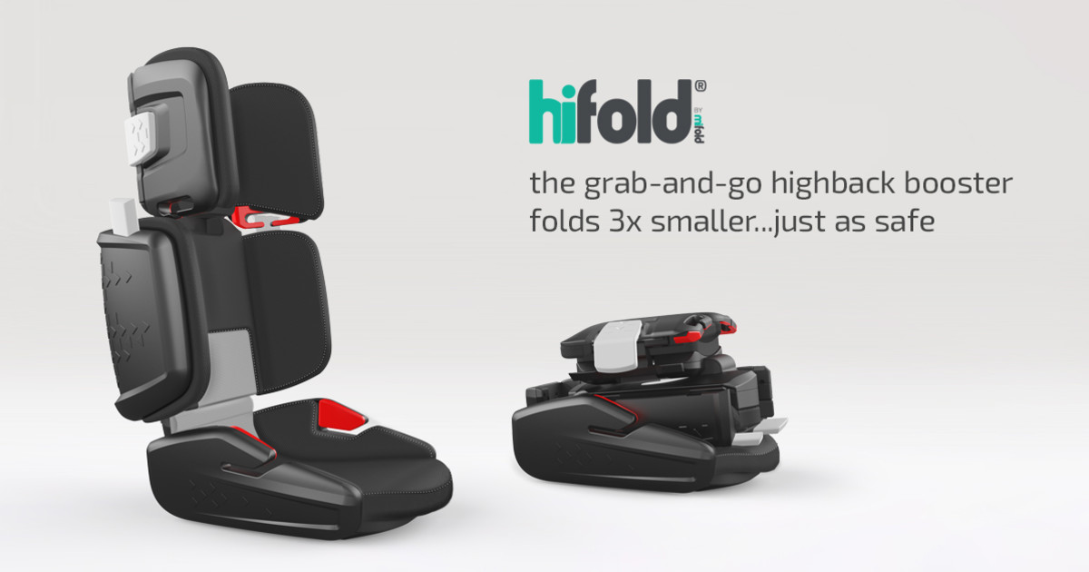 Hifold By Mifold The Highback Grab And Go Booster Indiegogo