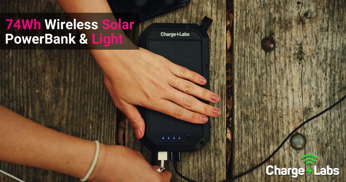 Halo: IP65 Wireless Solar Power Bank with Light   Ingogo on