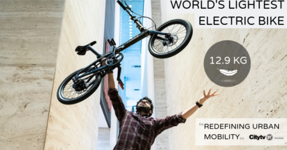 a1c1424fac0 CARBO, The World's Lightest Folding Electric Bike | Indiegogo