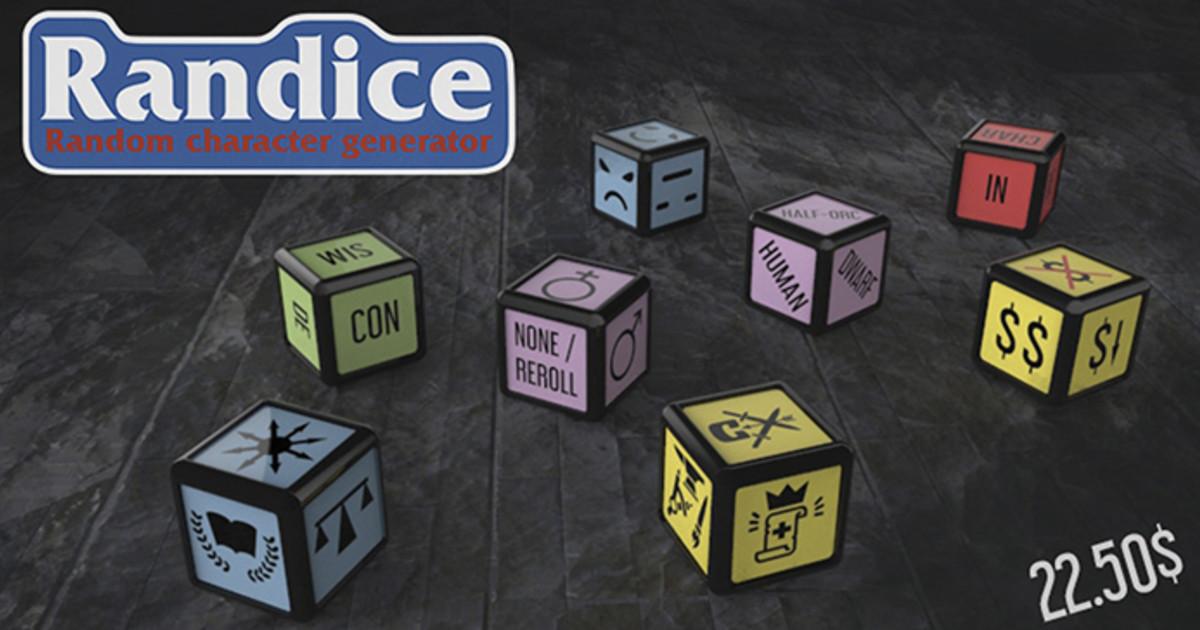 Randice: Dungeons And Dragons Character Generator   Indiegogo